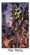 The Devil Tarot card in Cosmic deck
