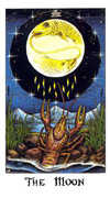 The Moon Tarot card in Cosmic Tarot deck