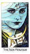 The High Priestess Tarot card in Cosmic Tarot deck