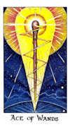 Ace of Wands Tarot card in Cosmic Tarot deck