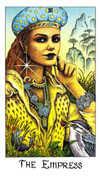 The Empress Tarot card in Cosmic Tarot deck