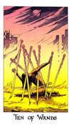 Ten of Wands Tarot card in Cosmic Tarot deck