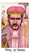 King of Wands Tarot card in Cosmic deck