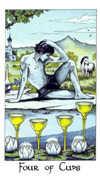 Four of Cups Tarot card in Cosmic Tarot deck