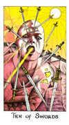 Ten of Swords Tarot card in Cosmic deck