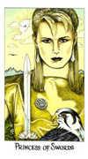Princess of Swords Tarot card in Cosmic Tarot deck