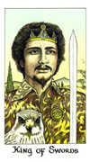 King of Swords Tarot card in Cosmic Tarot deck