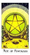 Ace of Coins Tarot card in Cosmic Tarot deck