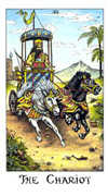 The Chariot Tarot card in Cosmic deck