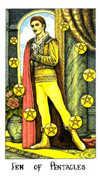 Ten of Coins Tarot card in Cosmic Tarot deck