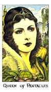 Queen of Coins Tarot card in Cosmic Tarot deck