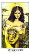Strength Tarot card in Cosmic Tarot deck