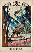 The Fool Tarot card in Crow Tarot deck
