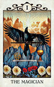 The Magician Tarot card in Crow Tarot deck