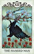The Hanged Man Tarot card in Crow Tarot deck