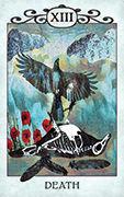 Death Tarot card in Crow Tarot deck