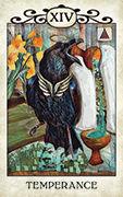 Temperance Tarot card in Crow Tarot deck