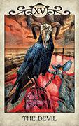 The Devil Tarot card in Crow Tarot deck