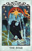 The Star Tarot card in Crow Tarot deck