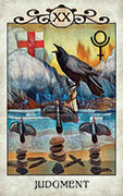 Judgement Tarot card in Crow Tarot deck