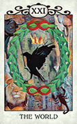 The World Tarot card in Crow Tarot deck