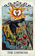 The Empress Tarot card in Crow Tarot deck