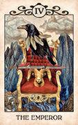 The Emperor Tarot card in Crow Tarot deck