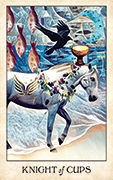 Knight of Cups Tarot card in Crow Tarot deck