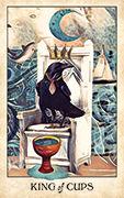 King of Cups Tarot card in Crow Tarot deck