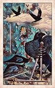Five of Swords Tarot card in Crow Tarot deck