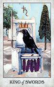 King of Swords Tarot card in Crow Tarot deck