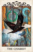 The Chariot Tarot card in Crow Tarot deck