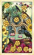 Ten of Pentacles Tarot card in Crow Tarot deck