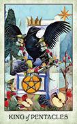King of Pentacles Tarot card in Crow Tarot deck