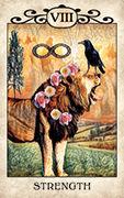 Strength Tarot card in Crow Tarot deck