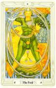 The Fool Tarot card in Crowley Tarot deck