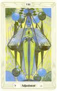 Adjustment Tarot card in Crowley Tarot deck