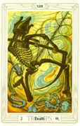 Death Tarot card in Crowley Tarot deck