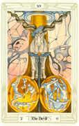 The Devil Tarot card in Crowley Tarot deck
