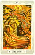 The Tower Tarot card in Crowley Tarot deck