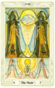 The Moon Tarot card in Crowley Tarot deck