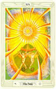 The Sun Tarot card in Crowley Tarot deck