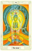 Aeon Tarot card in Crowley Tarot deck