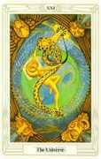 The Universe Tarot card in Crowley Tarot deck