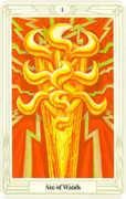 Ace of Wands Tarot card in Crowley Tarot deck