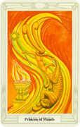 Princess of Wands Tarot card in Crowley Tarot deck