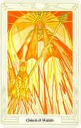 Queen of Wands Tarot card in Crowley Tarot deck