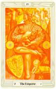 The Emperor Tarot card in Crowley Tarot deck