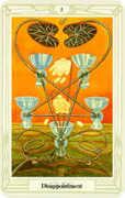 Five of Cups Tarot card in Crowley Tarot deck
