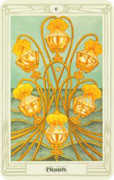 Six of Cups Tarot card in Crowley Tarot deck